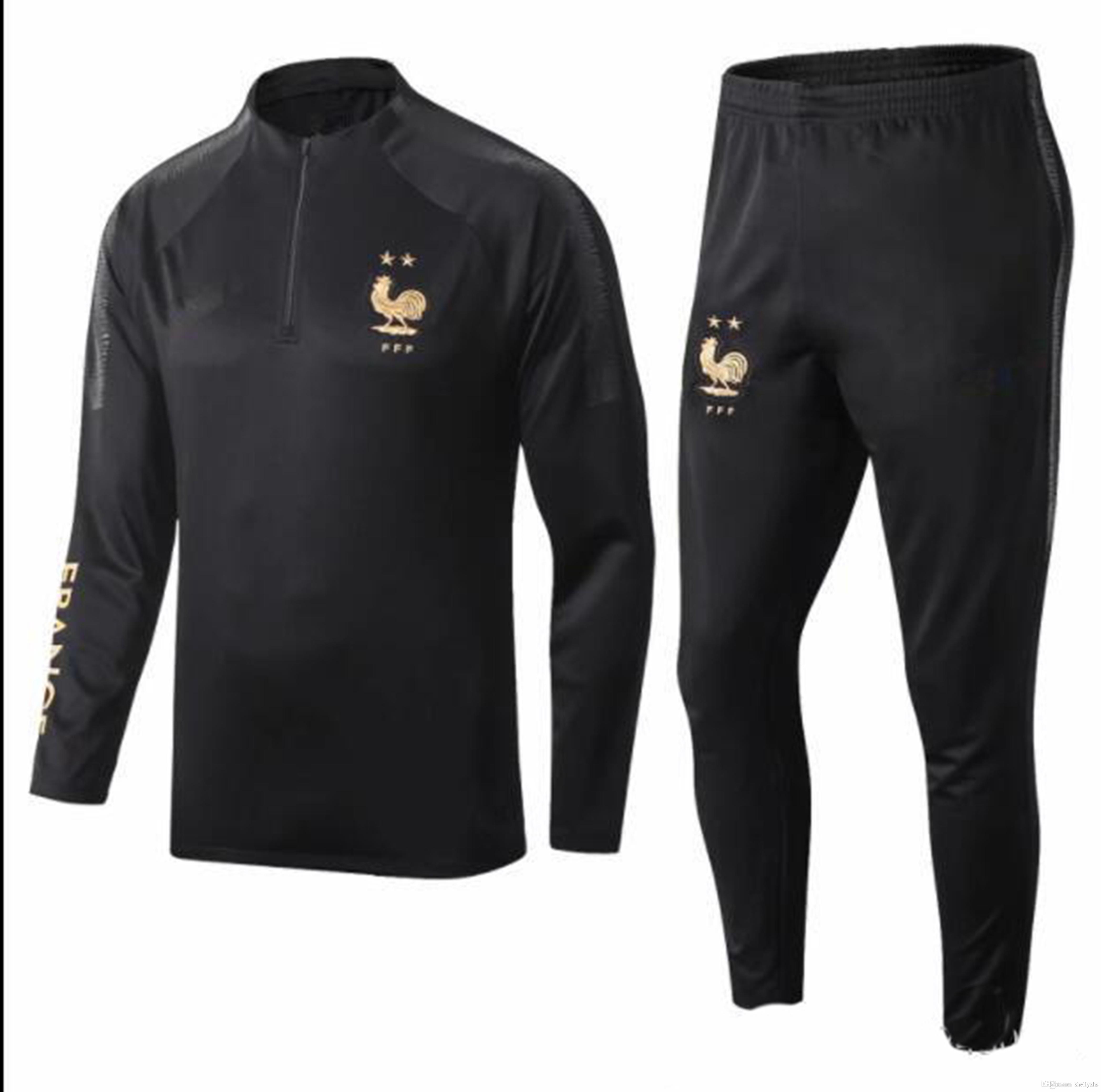 best size :S-2XL 2018 19 20 Maillot de Foot survetement jacket training suit 100TH 2019 2020 MBAPPE POGBA football jogging soccer tracksuit