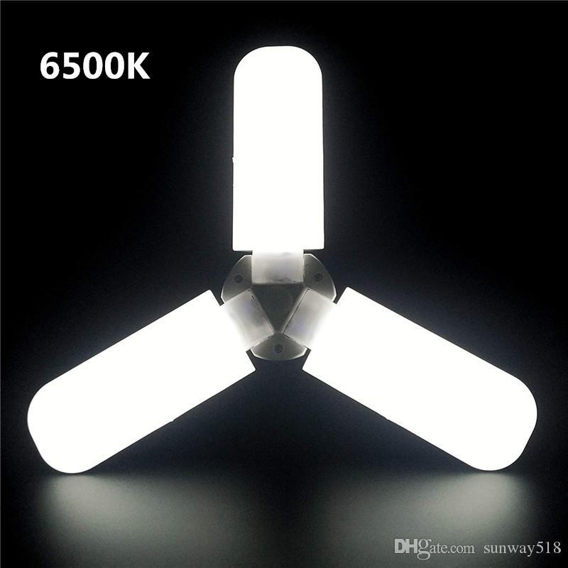 LED Garage Light Deformable Ceiling Light Sensor Indoor for Garage Workshop UK