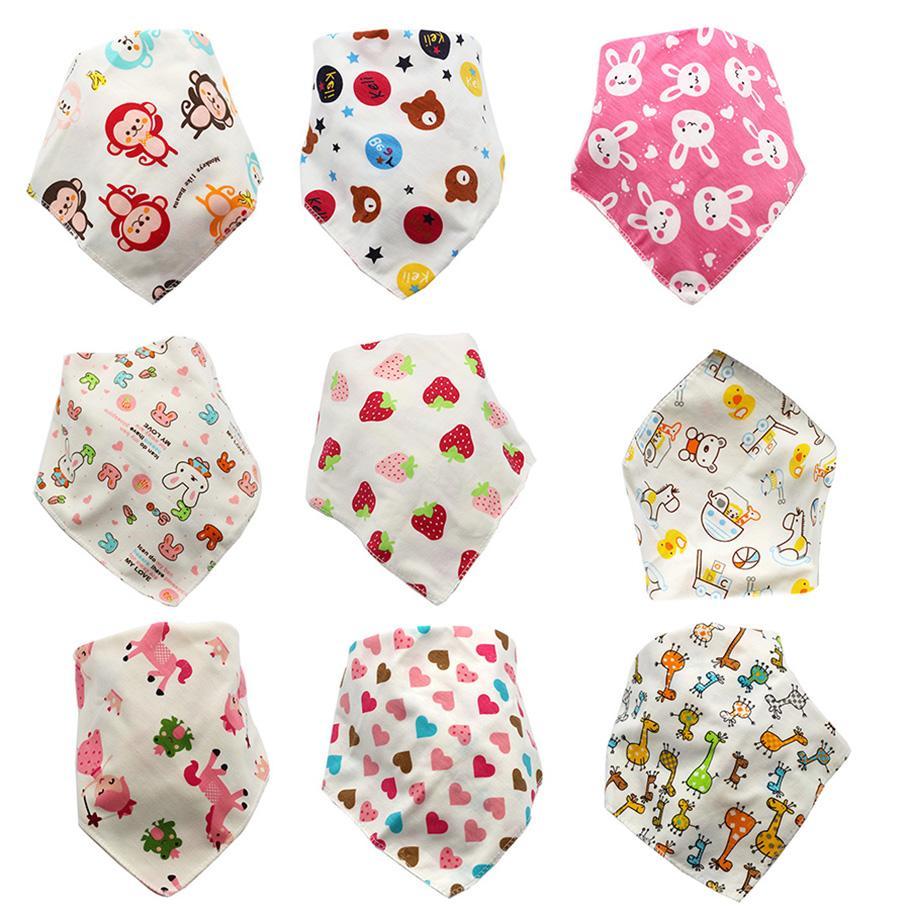 Cartoon enfant Triangle bandana bavoir nouveau-né Burp 2020 Chiffons bébé filles garçons enfant en bas âge coton double couche bavoirs imprimé animal C4395