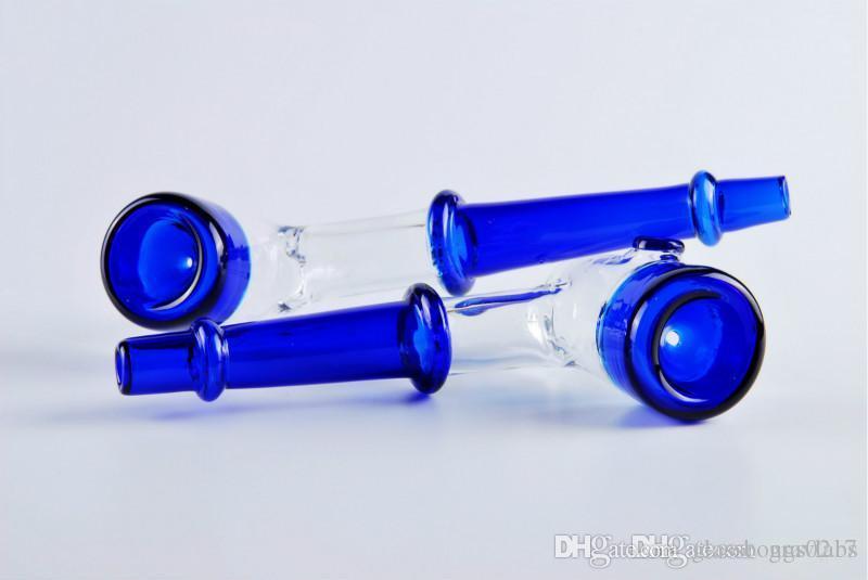 sigara elle yapılmış borular için mavi kalın kafa cam elde Boru cam tütün kuru ot boru
