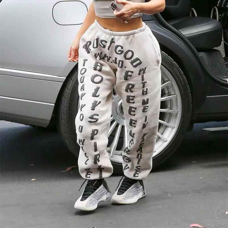 2020 Kanye Kim Sunday Service CPFM.XYZ Sweatpants femmes NEM1: 1 Hip Hop Automne Hiver Kanye West Casual Joggers Pantalons Pantalons