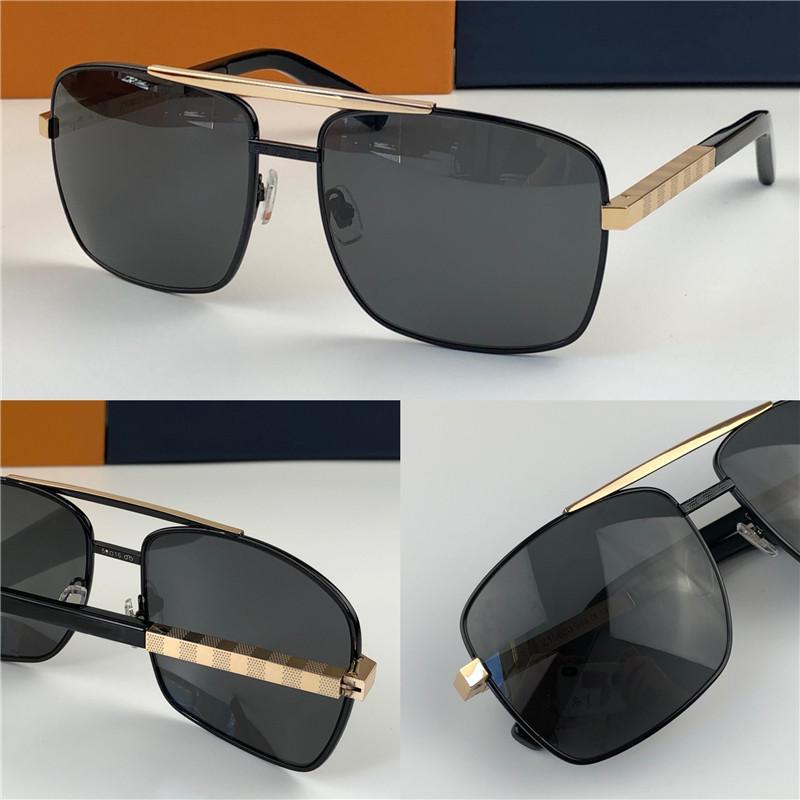 الرجال الكلاسيكية شعبية في الهواء الطلق نظارات شمس 0259 موقف الذهب مربع تصميم إطار حماية UV400 النظارات خمر نمط الصيف 0260