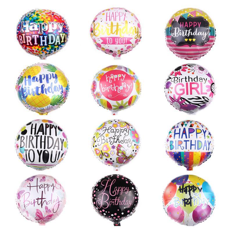 عالية الجودة 18INCH عيد ميلاد سعيد بالون الألومنيوم احباط بالونات الهليوم بالون مايلر كرات لحزب KKD الديكور لعب Globos
