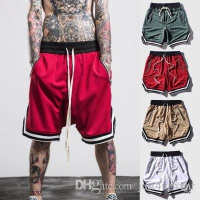 Rahat Nefes Gevşek Kısa Pantolon Yaz Hip Hop Sokak Basketbol Şort Erkek Moda Spor Pantolon mens