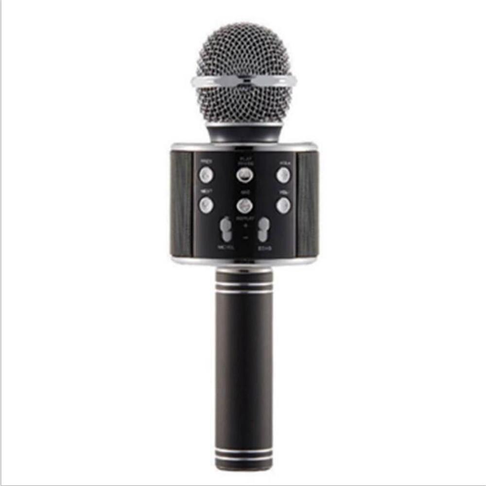 WS858 sem fio USB Microfones Profissionais Condensadores Karaokes Mic Bluetooth Stand Rádio Mikrofon Studio Gravação Studio WS858