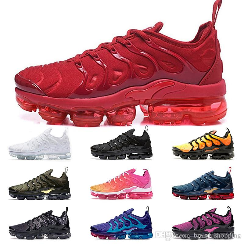 New Fashion tn plus running shoes for men women Triple red black white pink Midnight Navy Megatron Gold tennis sports sneakers mens trainers