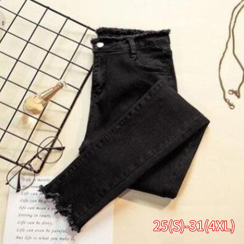 Jeans Female Denim Pants Black Color Womens Jeans Donna Stretch Bottoms Feminino Skinny Pants For Women Trousers