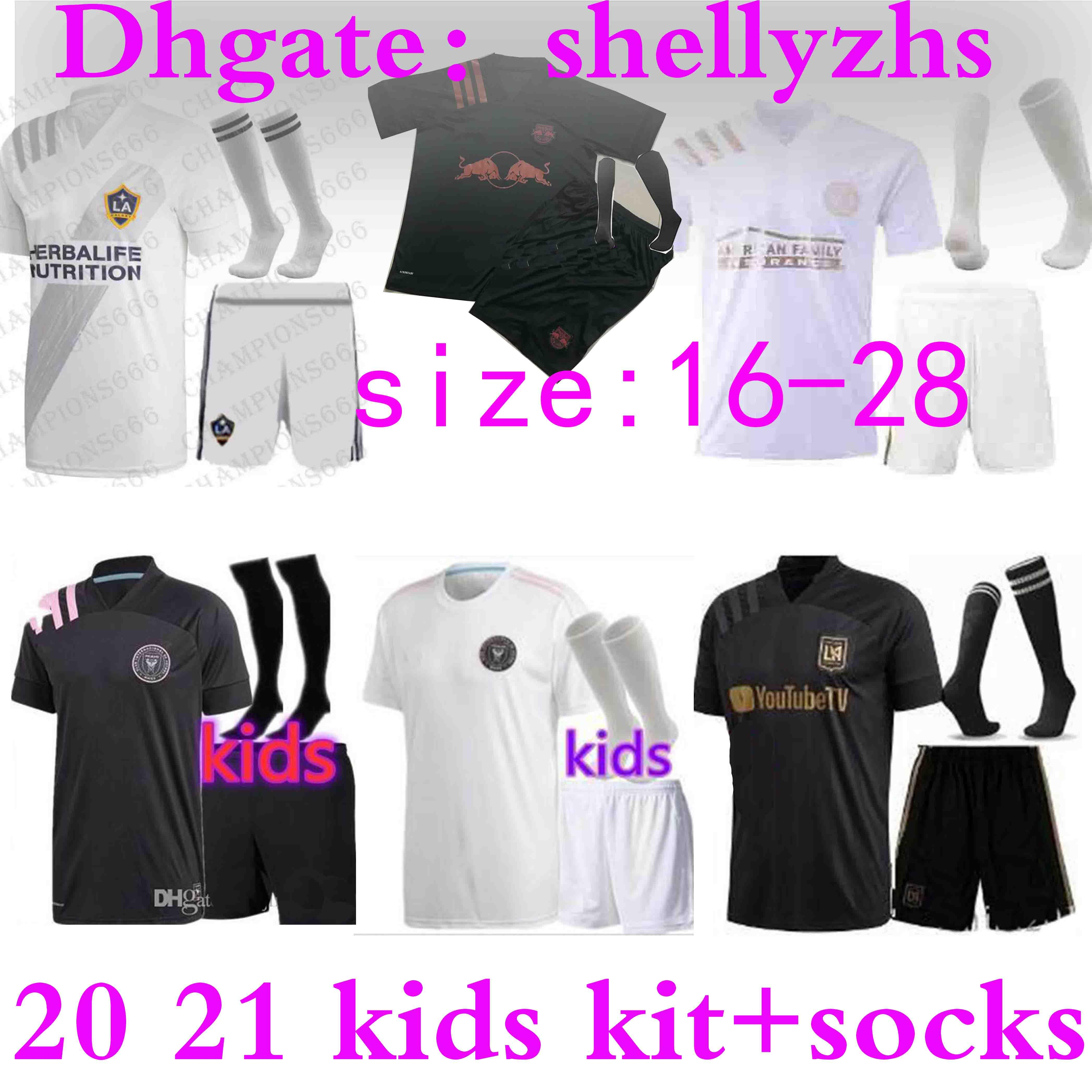 Kinder-Kit + Socken 2020 FC MLS Fußball-Trikot 20 INTER Miami 21 Atlanta Jugend LA Galaxy Junge new york LAFC beckham Los Angeles Fußballhemd
