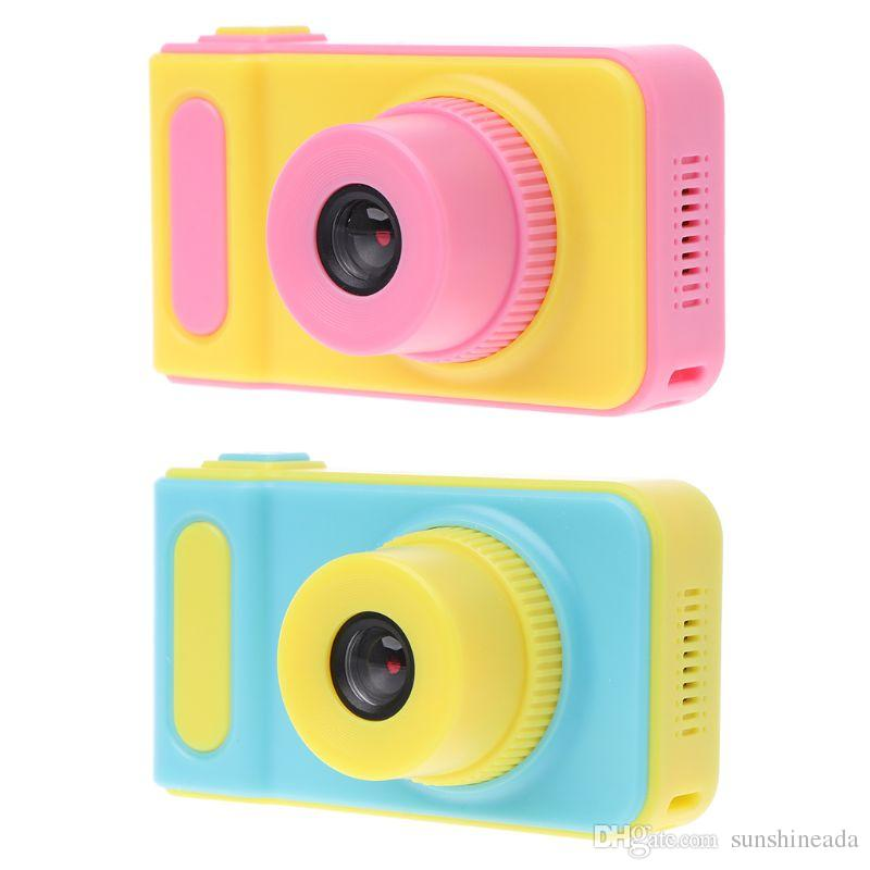 NEW Kids Camera Mini Digital Camera Cute Cartoon Cam 1080P Toddler Toys Children Birthday Gift 2 Inch Screen Cam Birthday Gift Inch Screen