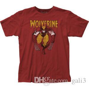 Wolverine auf rotem Tailliertem T-Shirt