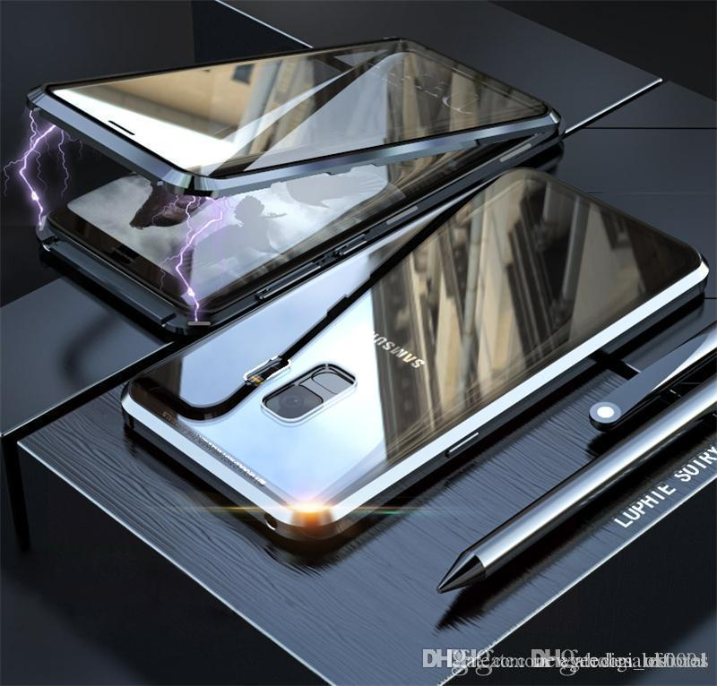 جبهة + العودة زجاج المغناطيسي المعادن الغلاف الخلفي للحصول على 11 الموالية 8 7 6S X XR إكسس ماكس زائد سامسونج S8 S9 S10 5G زائد S10E ملاحظة 9 القضية 8 الهاتف