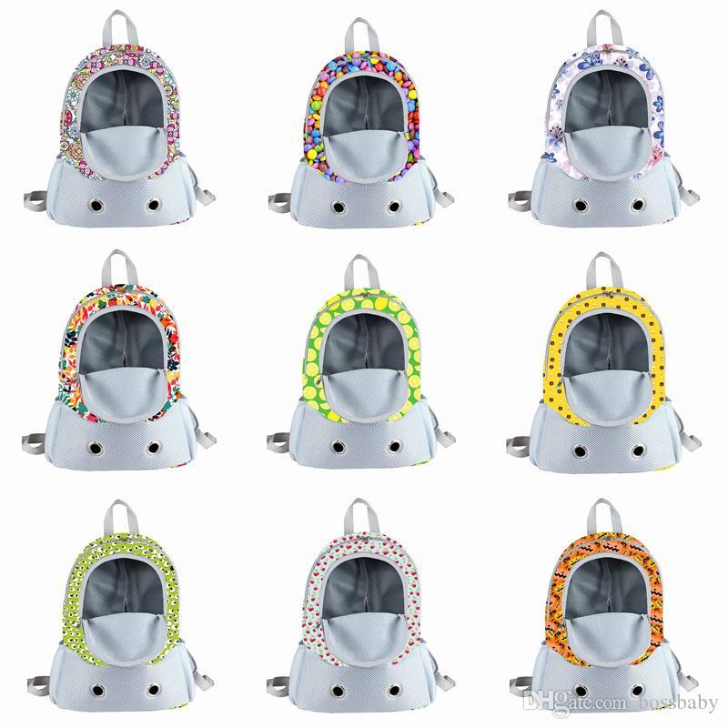 Lady Evcil Omuz Sırt Çantaları 10 Tasarım Çiçek Baskılı Fermuar Havalandırma Çok fonksiyonlu Yüksek kapasiteli Sırt Çantaları Doggy Omuzlar Çantalar 07