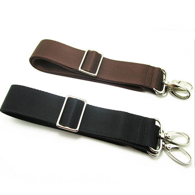 Spalla sostituzione cinghia regolabile per i bagagli Messenger Camera Bag poliestere nero Brown Bag Accessori PA879207