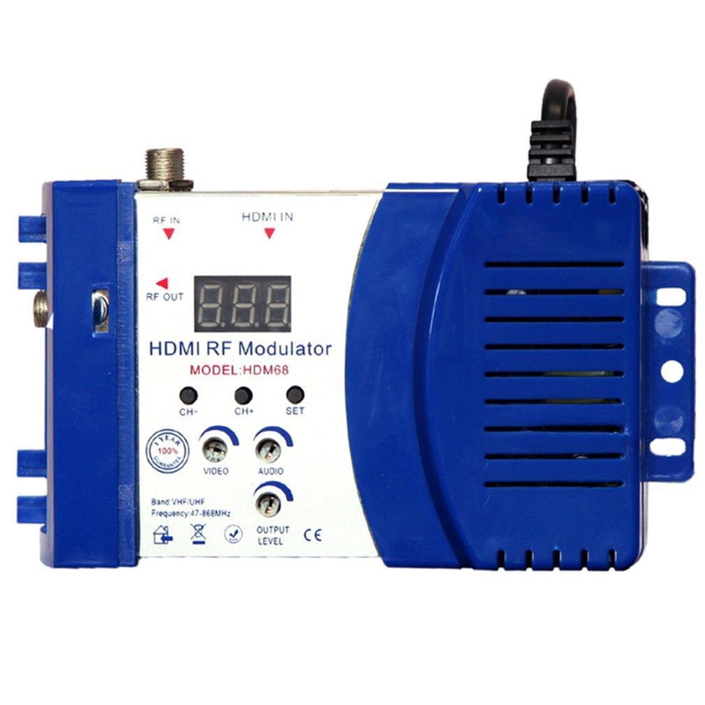 HDM68 Модулятора Digital RF HDMI AV-модулятор для преобразователя RF VHF UHF PAL / NTSC стандартного портативного модулятора для AU синего