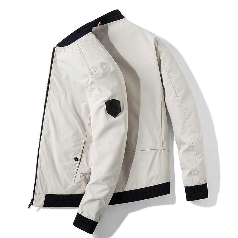 Coat Men's Spring And Autumn Tops plus Velvet Korean-style Trend Men's Baseball Uniform Winter New Style Men Casual Jacket