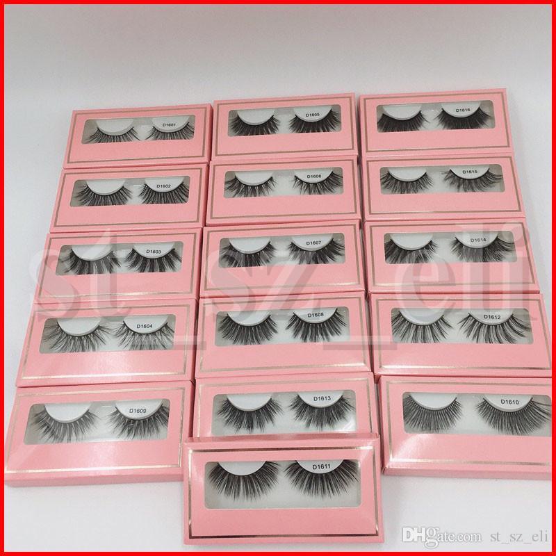 16 Styles Mink Lashes 3D Vison Cils Cruauté main réutilisable Cils naturel Wispies Faux Cils cils de vison de maquillage