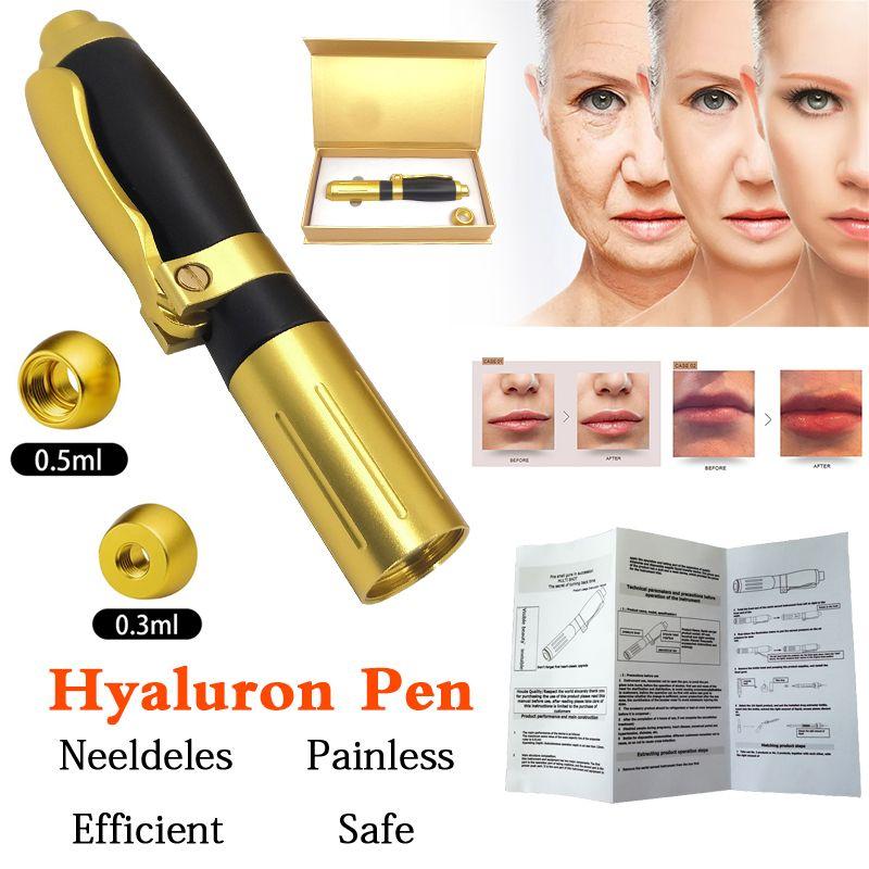 2IN1 الوسطى حقن بندقية Hyaluron القلم 0.3ml0.5ml حمض رئيس الذهب Hyaluronique القلم الشفاه حشو Jnjector موسع رذاذة جديد