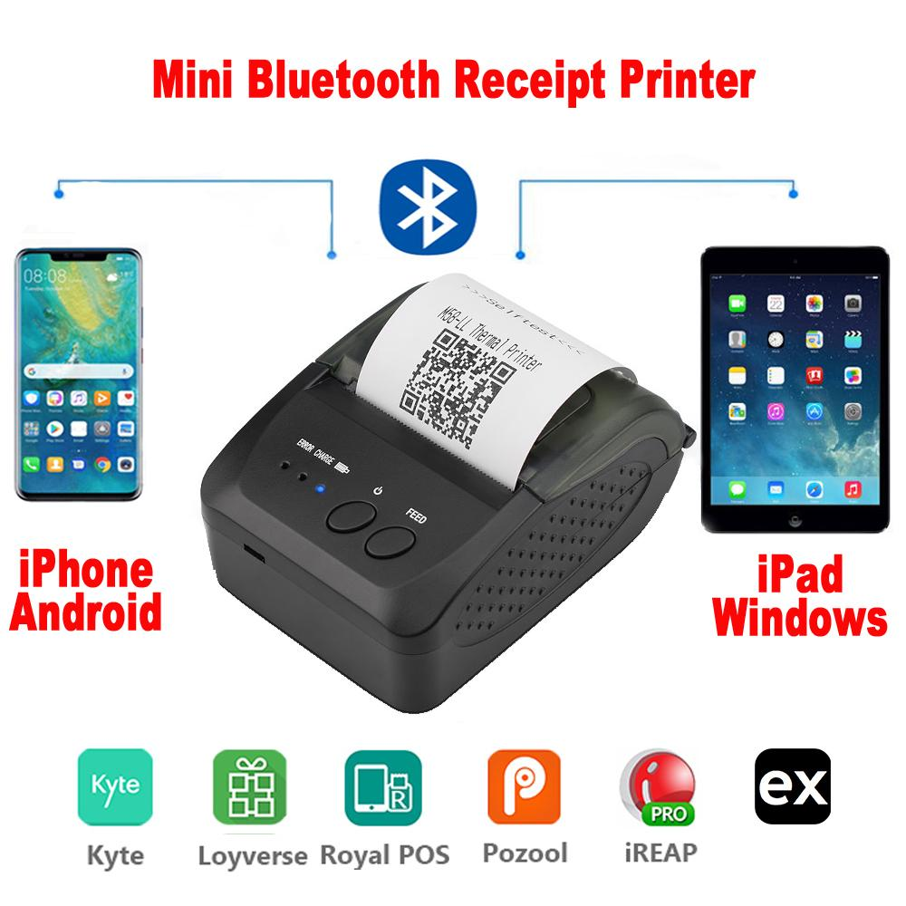 Portable Mini Bluetooth Printer Thermal Receipt Ticket Printer For Mobile Android Ios Phone 58mm Bill Machine For Store Photo Printers Plotter Printer From Elecpro 23 62 Dhgate Com