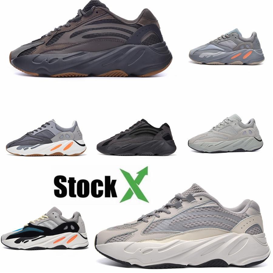 Kanye West 700 Vanta Статическая Инерция Соль Geode Светоотражающие мужские кроссовки Сиреневые Solid Gray Luxury Дизайнер кроссовки Размер 36-46 С # QA555