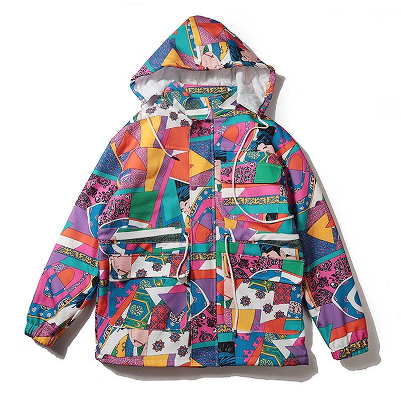 2018 Jacket Men kimono Japanese Style Anime Hoodies Hooded Hip Hop Winter Windbreaker Parka