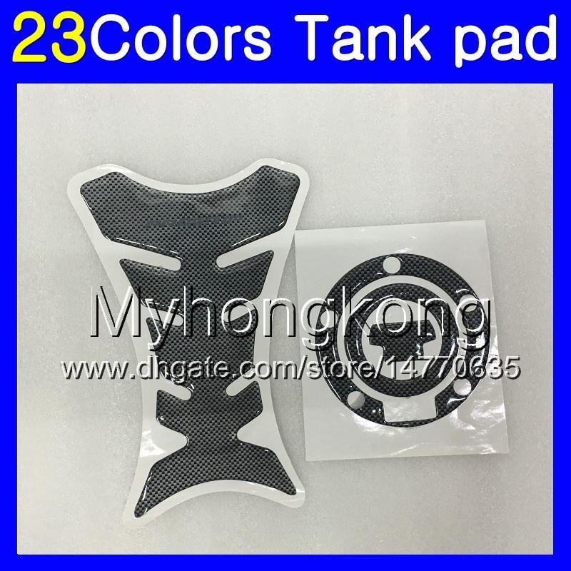 Fibra de Carbono 3D tanque Pad Para YAMAHA YZF600R 96 97 98 99 00 01 YZF600R YZF 600R 02 03 04 05 06 07 Tanque de gás MY64 Cap Protector adesivo decalque