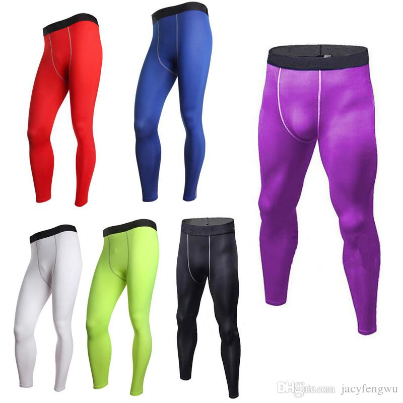 Kids Clothing Men Combat Athletic Skinny Compression Basketball Training Legging Run Gym Track Children Sport Tight Pants Fitness XZT044