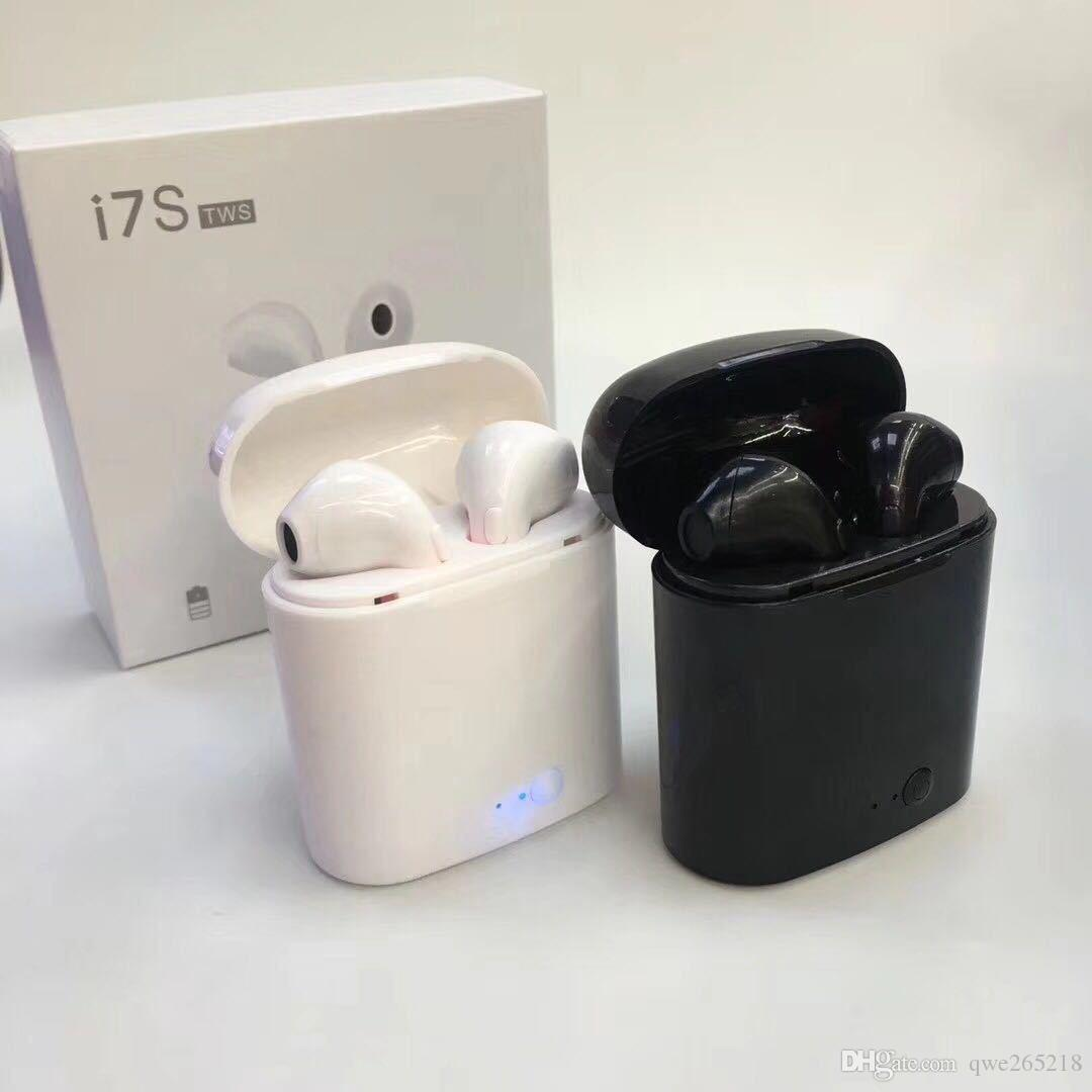 I7 TWS Bluetooth Twins Earphone i7s TWS Wireless In-ear Earbuds Stereo Twins Headphones Headset Handsfree With Charge Box For IPhone Samsung