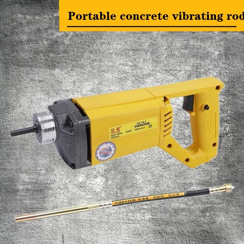 Taşınabilir beton titreşimli çubuk çubuk inşaat araçları titreşimli vibratör el