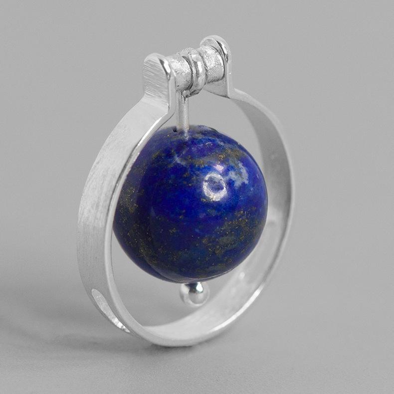 Inature 925 Sterling Silver Gem Pedra Infinito Planeta Anéis Para As Mulheres Anel Ajustável Presentes Da Jóia Da Forma SH190721