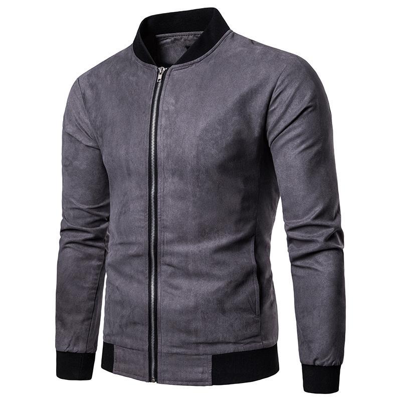 Vintage chaqueta de gamuza hombres 2019 nuevo otoño invierno prendas de vestir exteriores para hombre de alta calidad para hombre rompevientos más tamaño chaqueta bomber hombres