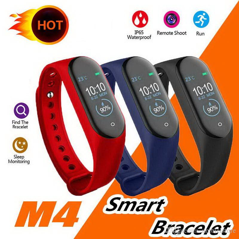 New Hot M4 intelligente Band bracelet Fitness Tracker Montre Sport Montre de fréquence cardiaque intelligent 0,96 pouces Smartband Health Monitor Wristband