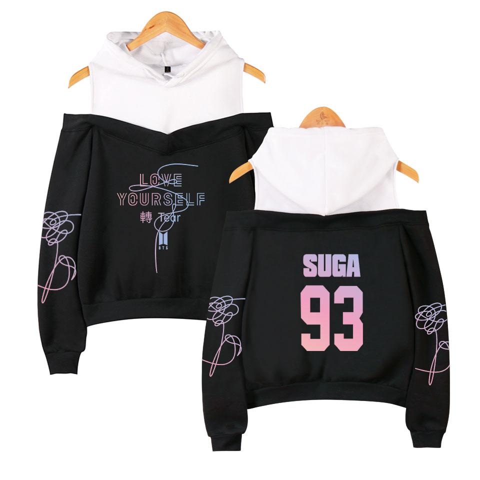 Women 93 Bling Caps Hoodies 2018 Hot Sale New Style Sweatshirt Casual Top Kpops Clothes Hooded Plus Size XXL
