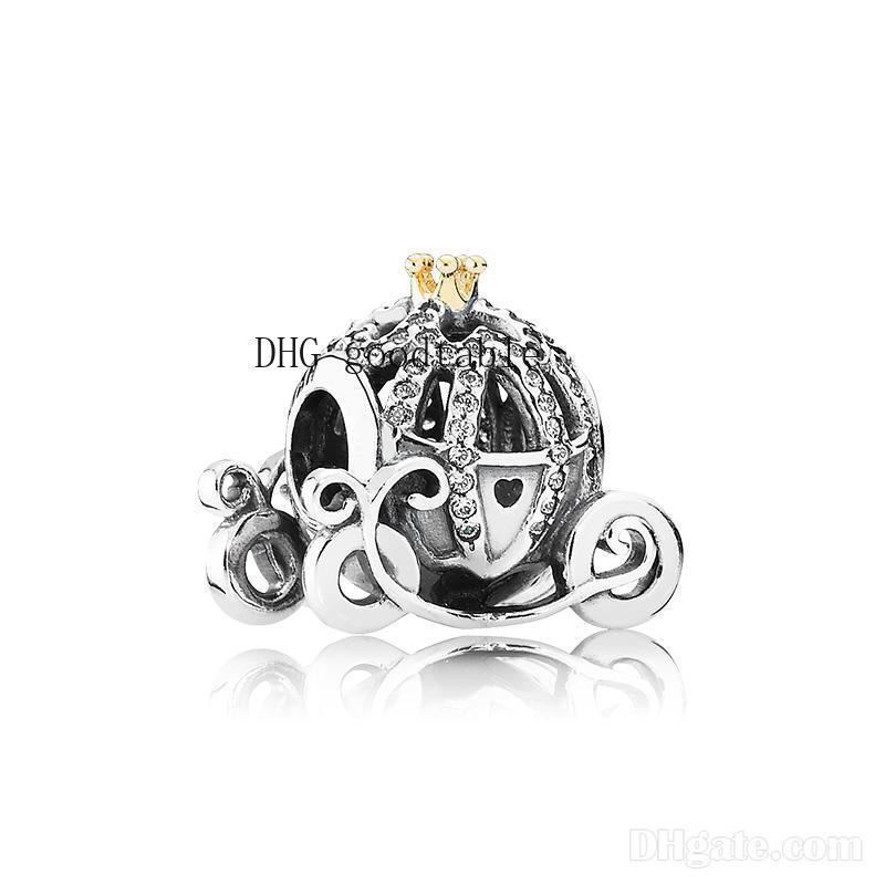 Charms autentica Charms zucca marchio dell'automobile scatola originale argento 925 per Pandora braccialetto perline europei per la produzione di gioielli