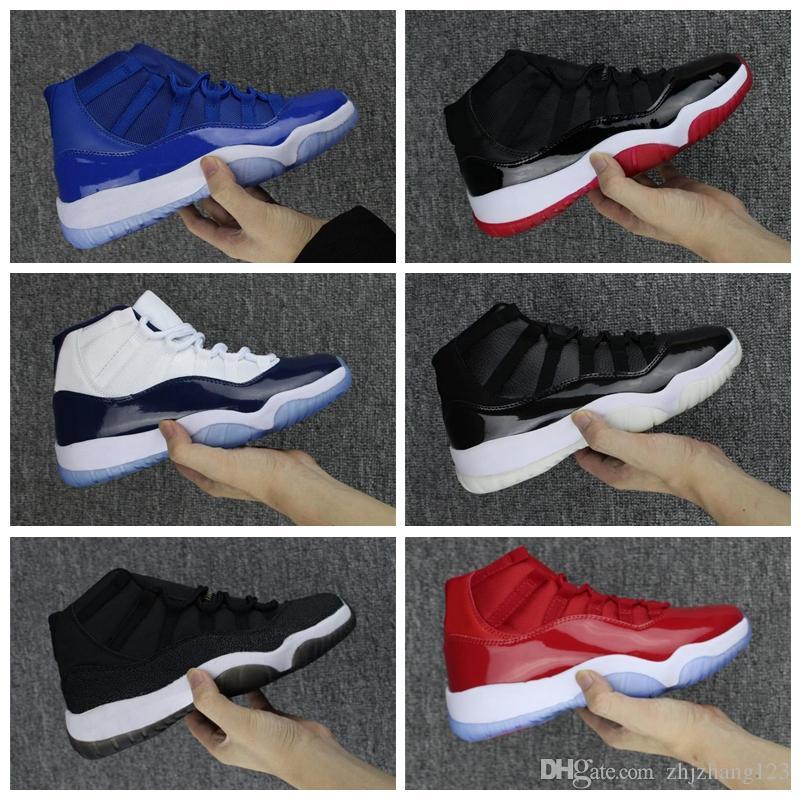 Nike Air Jordan Original AJ AJ11 2019 Bred 11 Concord High 45 XI 11s Кепка и платье Мужская уличная обувь PRM Heiress Space Jams женские мужские спортивные кроссовки