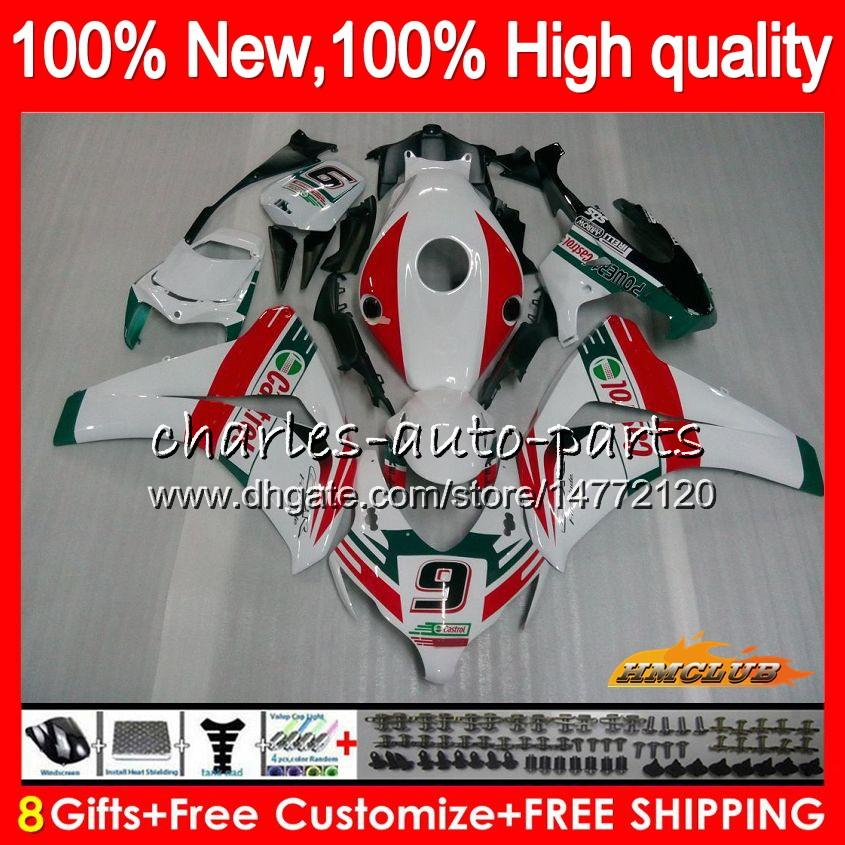 Комплект кузова для HONDA CBR 1000 RR 1000cc CC R 2008 2009 2010 2011 79NO.95 CBR 1000RR CBR1000 RR белый глянцевый CBR1000RR 08 09 10 11 OEM обтекателя