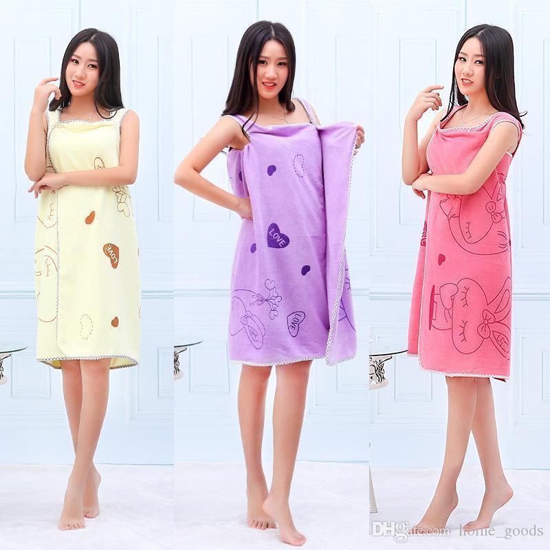 Cartoon Magie Badetuch Dame Girls SPA Dusche Tragbarer Handtuch Mikrofaser Absorbent Schnell trocknende Body Wrap-Strand-Kleid Bademantel Handtuch Rock