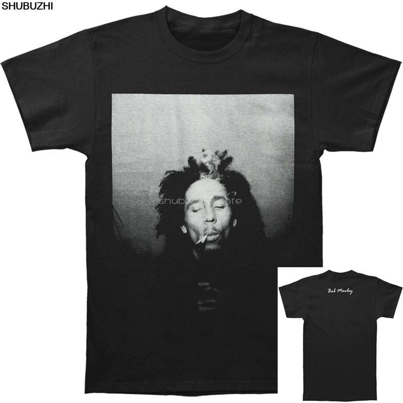 Боб Марли Мужская сигаретам футболка Черный