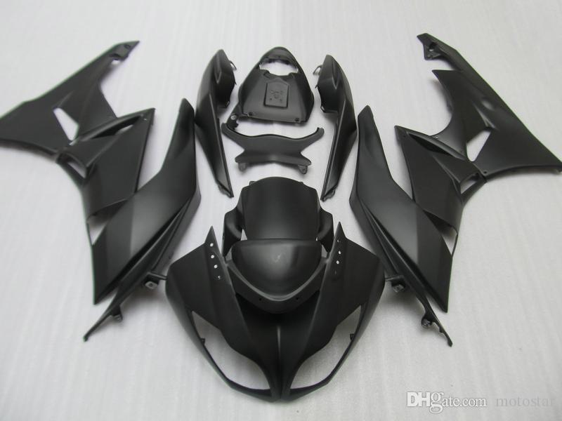 Kit di carenatura personalizzati gratuiti per Kawasaki Ninja 2009 2010 2011 2012 ZX6R Black Chinese Fairings ZX 6R 636 ZX636 ZX-6R 09-12