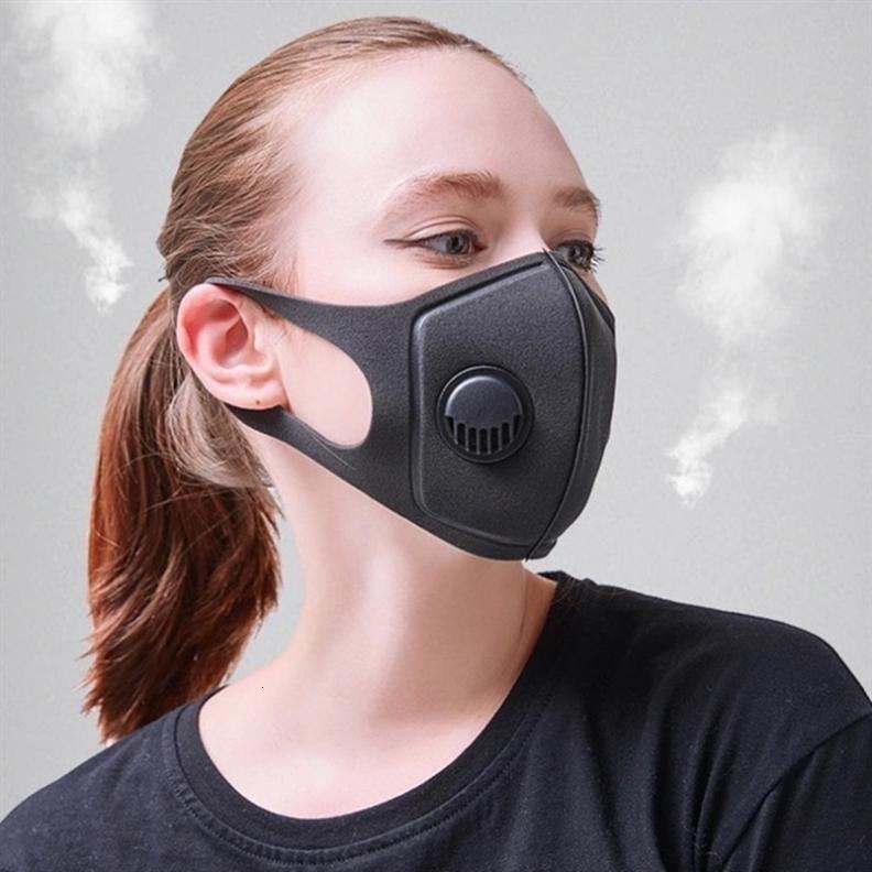 Visage C98h respiration Valve éponge Masque anti-poussière lavable bouche réutilisable -dust Brouillard PM2,5 Masques de protection masque en tissu