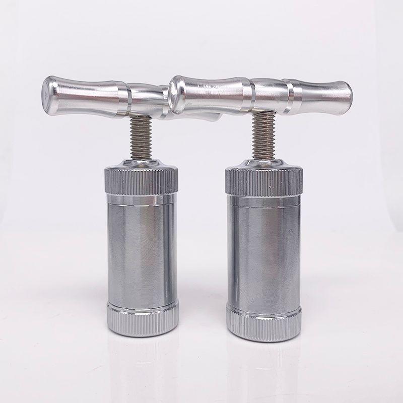 Neueste Mini Edelstahl Metall Rohr Pollenpresse Presser Kompressor Grinder Tobacco Spice Crusher Grinder Dab Werkzeug