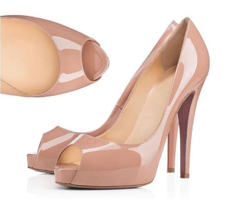 Designer Shoes sneakers Estilos Então Kate Salto Alto Peixe boca Red Bottoms Salto de couro genuíno Ponto Toe Bombas tamanho Rubber 35-42 WithBox