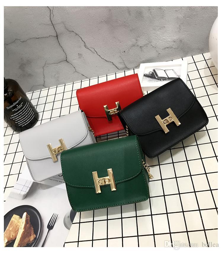 Neue H Designer Handtaschen Geldbörse für Frauen Klassische Kette Plain Umhängetaschen Mini PU Crossbody Luxus Handtaschen Muttertag Geschenk