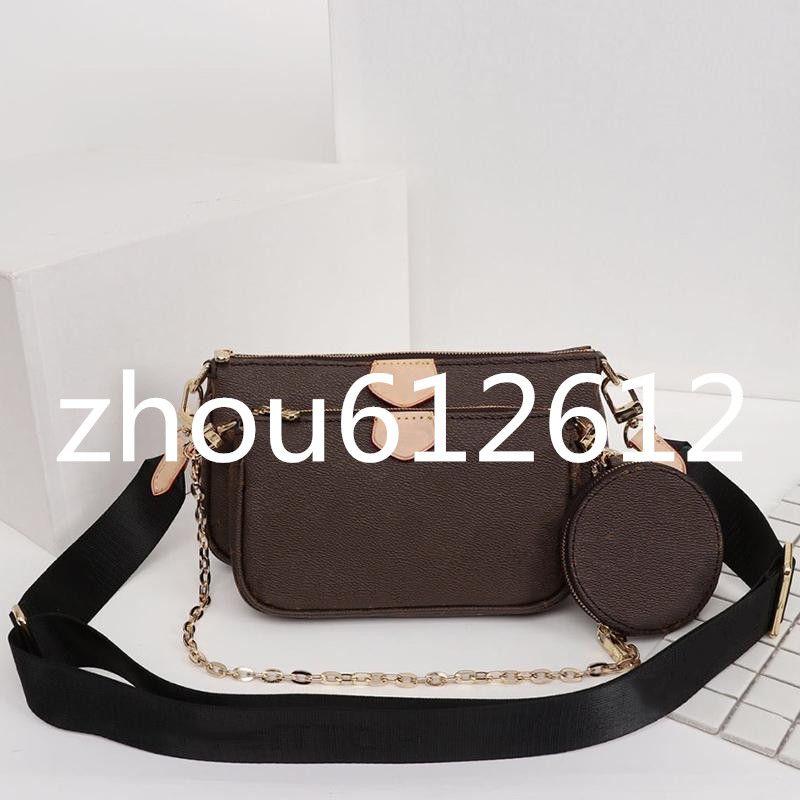 3B2W أحدث محفظة M44823 أكياس Accessoires Pochette متعدد جولة crossbody ثلاثة M44840 مع الحقيبة جيوب M44813 حقيبة يد محفظة المرأة uoad