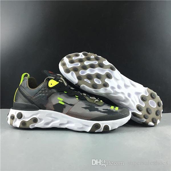 Оптовая Реагировать Element 87 Тайные кроссовки для мужчин Для женщин Спорт Бег кроссовки Дизайнерская обувь Размер 36-45