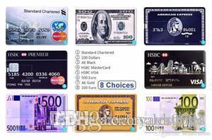 UK Design Real Capacity Credit Card Flash Drive - USB Flash Drive 16GB~64GB - External Storage -