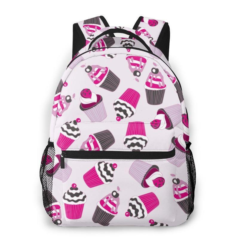 Donne Scuola Zaino Borsa per adolescenti femmine Bella Yummy Cupcake rosa femminile computer portatile notebook Bagpack Viaggi Back Pack 2020