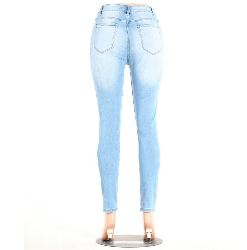 2019 Ripped Jeans For Women Girls Skinny Jeans Holes Pants Denim Trousers Long Sections Plus Size New Fashion 2017 Light Blue From Harrietai, $42.25 |