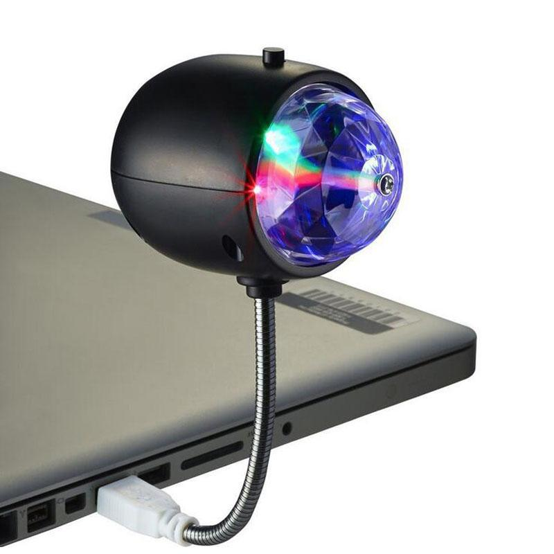2 in 1 Mini LED Portable Dual-Use Lights USB Colorful Rotating Small Magic Ball Stage Lights USB Lighting Small Magic Ball Lights