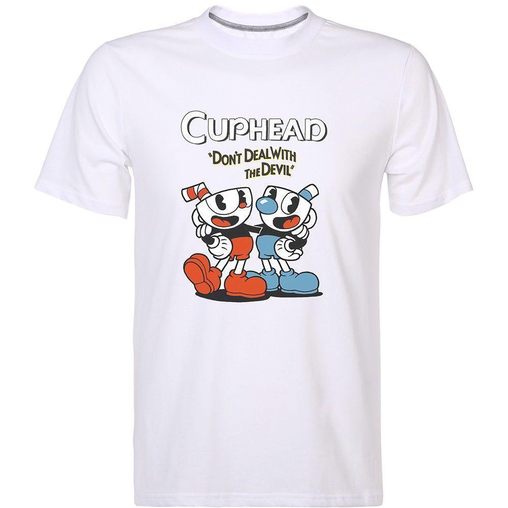 Round Collar T Shirt Kid/'s Cuphead And Mugman