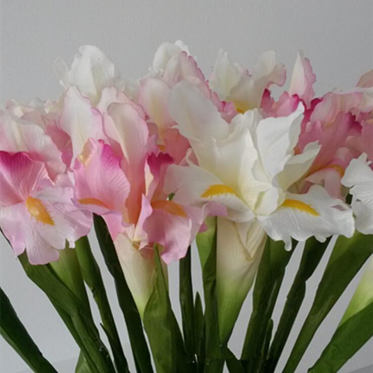 1pc artificielle irlandaise Iris fleur fleurs pour accessoire artificielles table de mariage d'automne décoration de la maison de fausses fleurs irlandaises